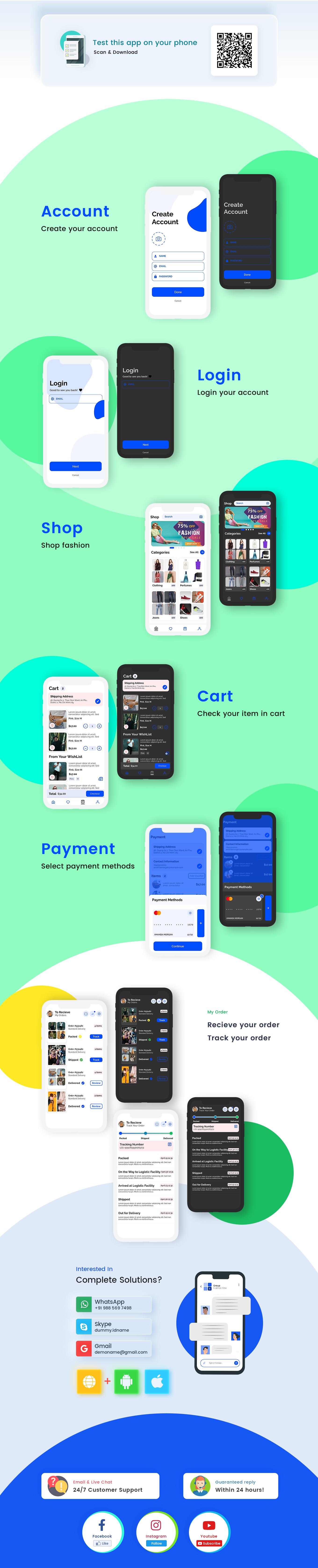 Hastar - Flutter Ecommerce App UI Kit - Fashion Store - 1