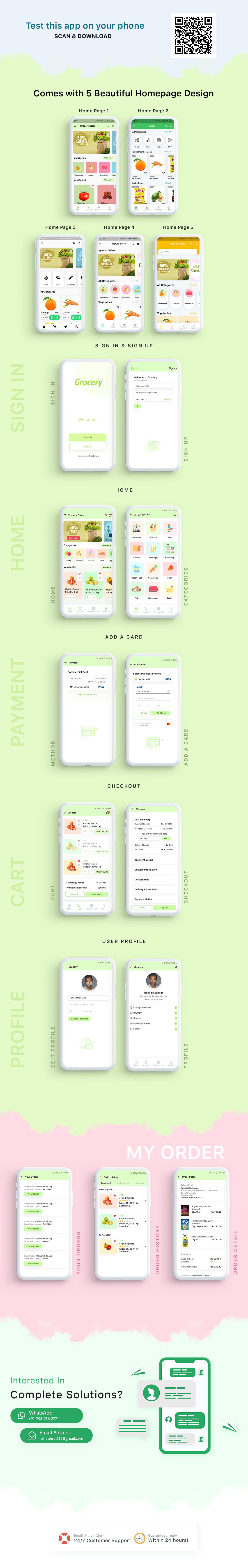 Grocery local Store Mobile Flutter App UI Kit - 1